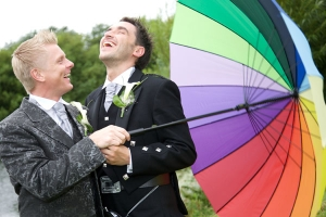 wedding photo of gay guys